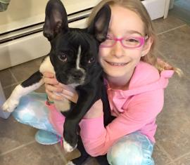 NICOLE'S DAUGHTER SIENNA WITH THEIR FRENCHTON LUNA