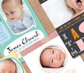 Birth announcemet photo cards for MyPublisher.com